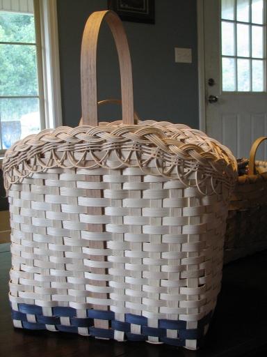 Wildflower Basket with Braided Rim