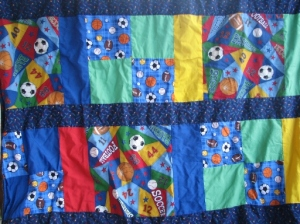 Close up of Sports blanket
