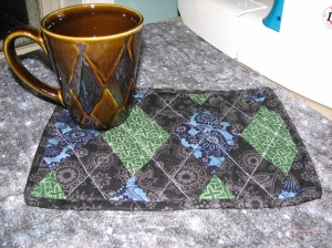 Argyle with mug