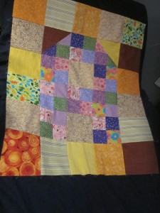 Baby A quilt top