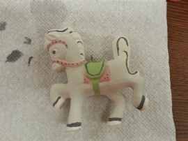 unglazed pony ornament